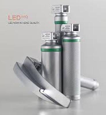 Punhos inox de laringoscópio LED